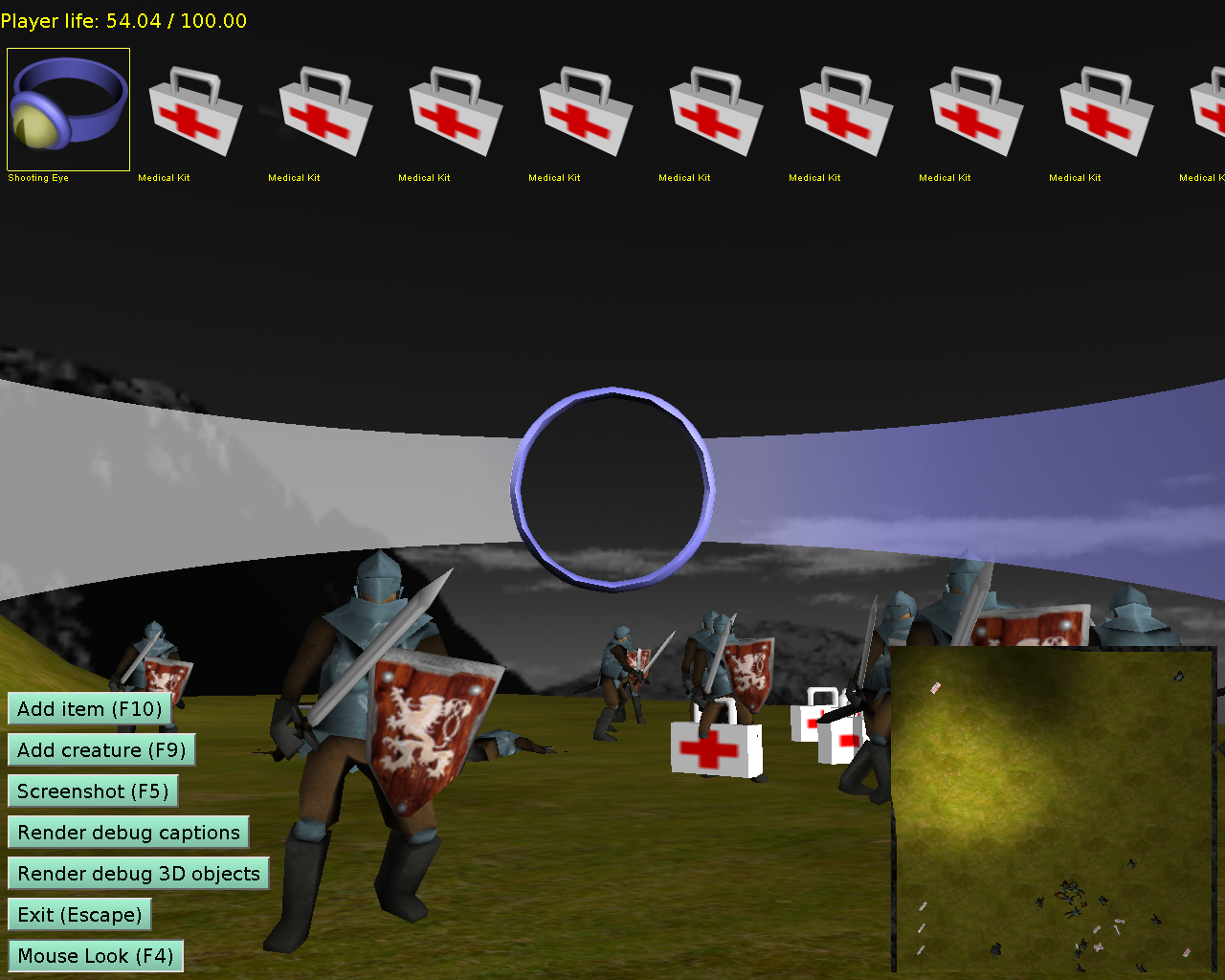 Custom drawn 2D controls: player HUD | Manual | Castle Game Engine