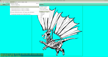 Dragon animations in view3dscene