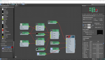 The same in second material editor, Glossines adjusted to 3