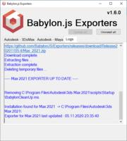 Babylon glTF plugin installed