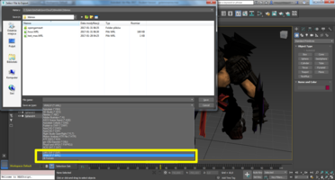 3ds Max Export file dialog - choose VRML97