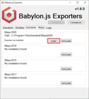 Babylon glTF Installer