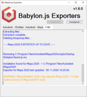 Babylon glTF plugin installed