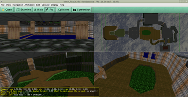 Multiple viewports with a DOOM level in view3dscene