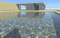 Real-time water with caustics, reflections, shadows