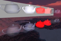 Various blend modes with transparent teapots