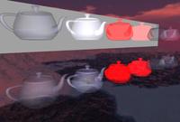 Various blend modes with transparent teapots