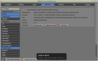 Installation of castle-anim-frames Export Script in Blender