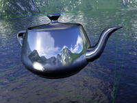 Teapot with cube map reflections