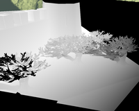Shadow map mapped over the scene