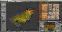 FPS game demo - design of level in Blender