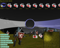 fps_game demo player HUD showing inventory