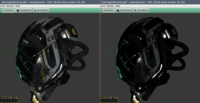 Damaged Helmet: Gamma Corrected / Not Corrected