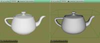 Teapot: Gamma Corrected / Not Corrected