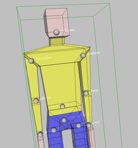 BoxMan with joints visualized