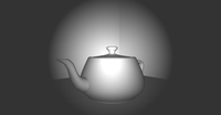 Spot headlight with per-pixel lighting
