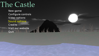 "On-screen menu in ""The Castle"" - main menu"