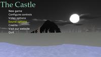 """On-screen menu in """"The Castle"""" - main menu"""