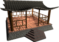 Shinto shrine model, from http://opengameart.org/content/shrine-shinto-japan , with multiple shadow maps enabled