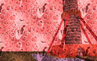 "Screen effect ""blood in the eyes"": modulate with reddish watery texture"