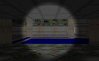 Screen effect: headlight, gamma brightness (on DOOM E1M1 level remade for our Castle)