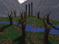 Scenery with shadow maps
