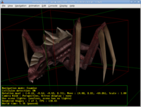 """view3dscene"" rendering Tremulous creature from MD3"
