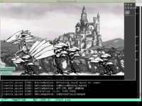 """Dragon Spine"" running in an Android emulator"