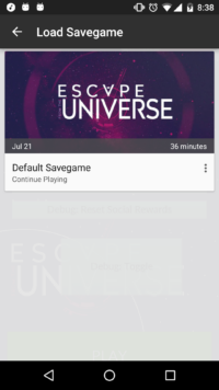 Savegames in the cloud using Google Play Games