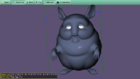 "Chinchilla model in X3D, based on high-poly version in ""Big Buck Bunny"""