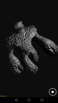 lizardman animation with bump mapping on Android