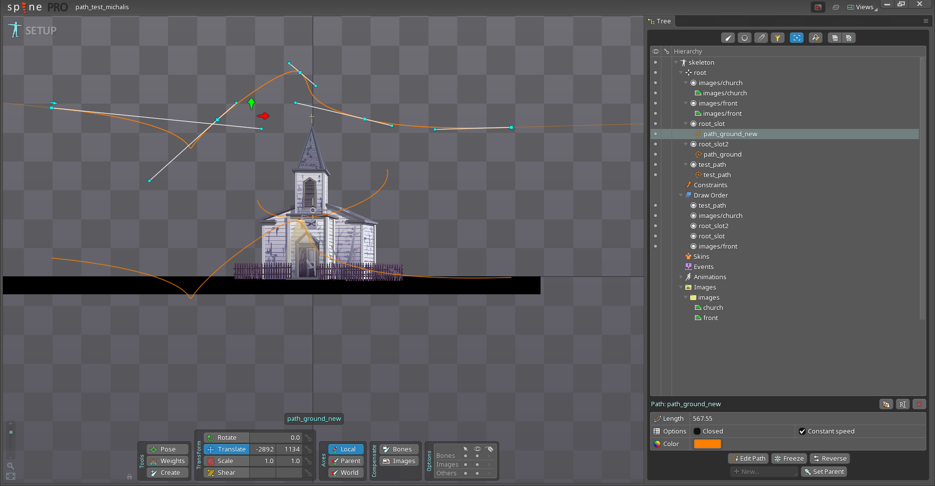 Spine Bezier paths support, some fixes – Castle Game Engine