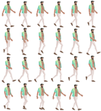 "Character from ""The Unholy Society"" ( unholy-society.com ) remade as a sprite sheet"
