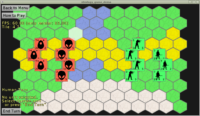Castle Game Engine - strategy game demo - hexagonal Tiled map