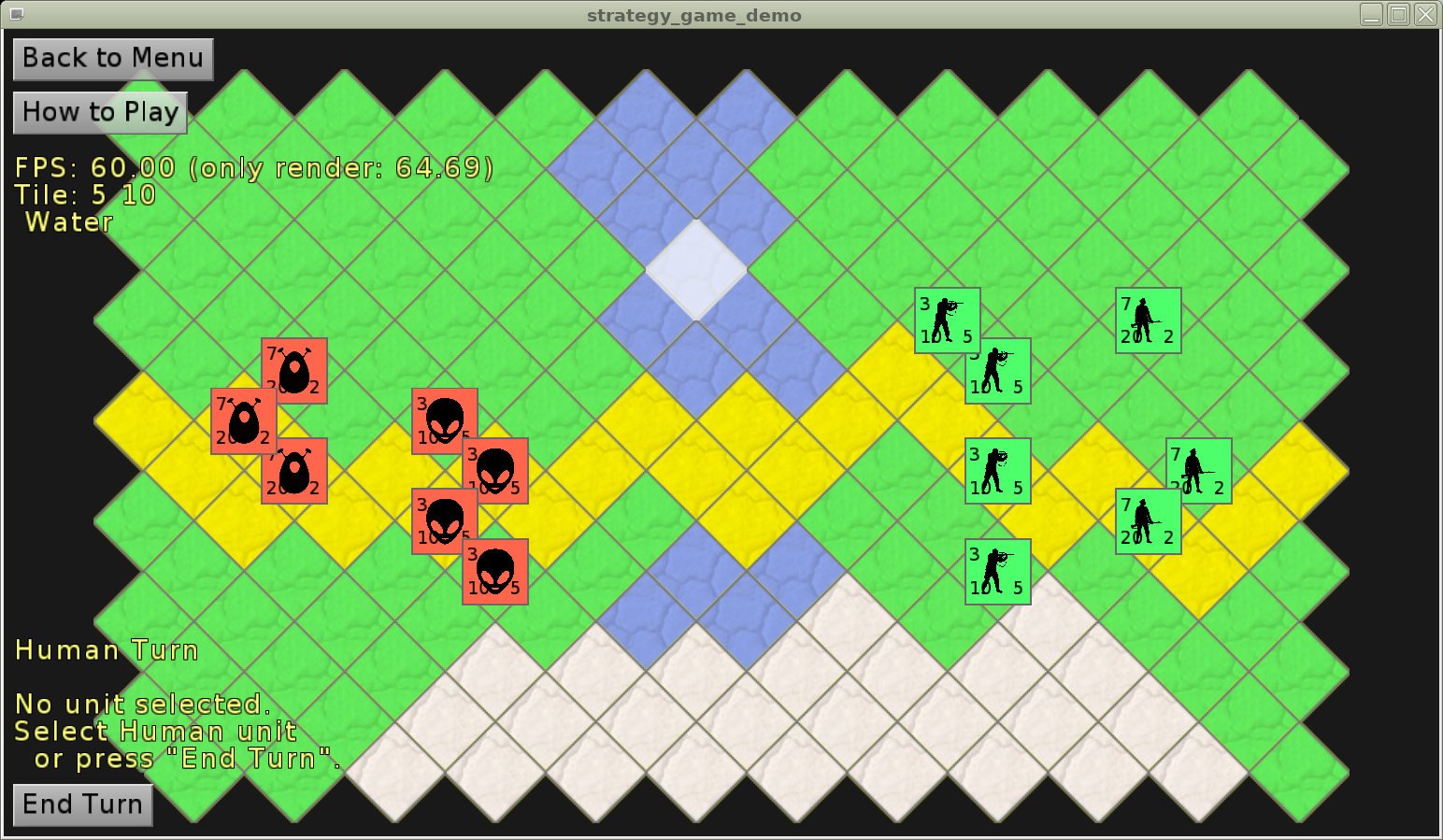 Castle Game Engine – strategy game demo – isometric