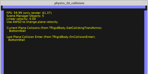 Physics collision demo