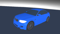 Car exported from Blender 2.8 as Wavefront OBJ