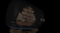 Ship in the bottle - Model by Loïc Norgeot from https://sketchfab.com/3d-models/ship-in-a-bottle-9ddbc5b32da94bafbfdb56e1f6be9a38 (Creative Commons Attribution-NonCommercial)