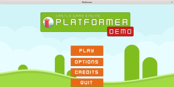 Platformer demo - title screen