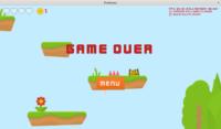 Platformer demo - game over