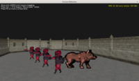 Werewolf, from a sprite sheet, is also a billboard and emits a 3D sound