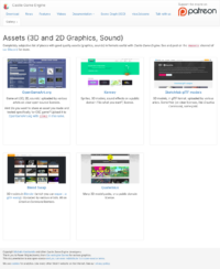 New assets list webpage