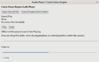 Example audio player using LCL for UI and CGE for sound playing